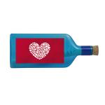"""Blaue Flasche mit Sujet """"Herz"""""""