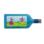 """Blaue Flasche mit Sujet """"Prinzessin"""""""