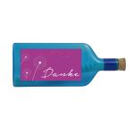"""Blaue Flasche mit Sujet """"Danke"""""""