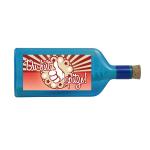 """Blaue Flasche mit Sujet """"Du bist spitze"""""""