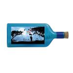 """Blaue Flasche mit Sujet """"Liebespaar"""""""