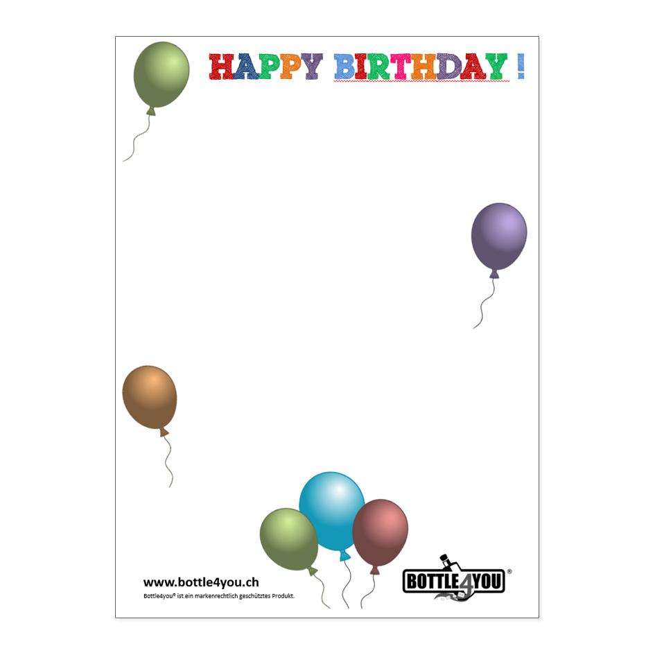 """Brief zum Thema """"Geburtstag"""""""