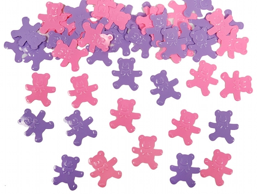 Bären Konfetti in Lila & Pink