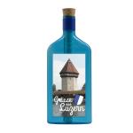 """Blaue Flasche mit Sujet """"Grüsse aus Luzern"""""""