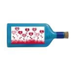 """Blaue Flasche mit Sujet """"Muttertag"""""""