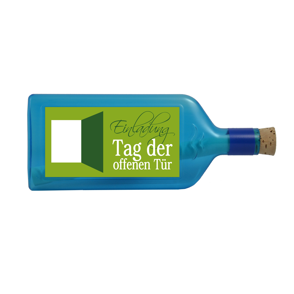 ideen einladung zum tag der offenen tür - bottle4you®, Einladung