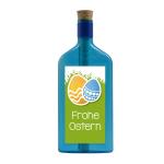 """Blaue Flasche mit Ostersujet """"Frohe Ostern"""""""