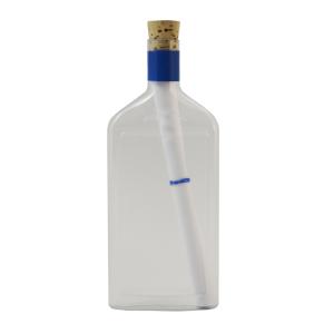 Flaschengruss mit transparenter Blanko Flasche