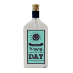 "Transparente Flasche ""I Wish You A Happy Day"""